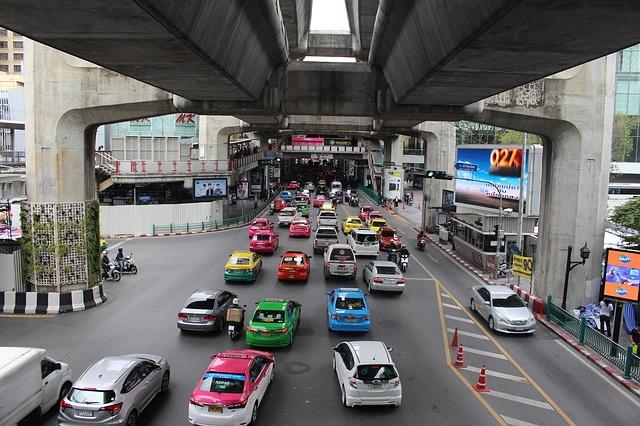 silnice v bangkoku