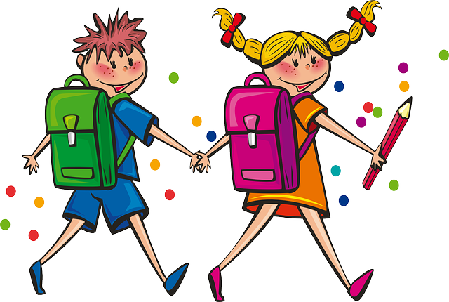 školáci s taškami